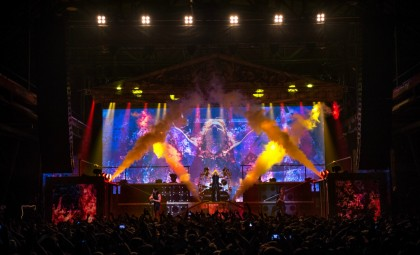 """Munich, GER: Heavy Metal Band MANOWAR plays the Zenith on January 22nd 2016 during their """"Gods and Kings""""-Tour.  Photo: Sebastian Konopka for MAGIC CIRCLE ENTERTAINMENT"""